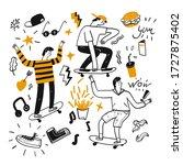 youth skateboard. the element... | Shutterstock .eps vector #1727875402
