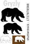 grizzly bear silhouette  vector ... | Shutterstock .eps vector #1727878588