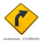 Traffic sign turn right color...