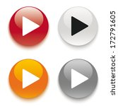 4 buttons on the white... | Shutterstock .eps vector #172791605