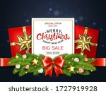 christmas sale.  template for... | Shutterstock . vector #1727919928