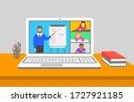 online education virtual class... | Shutterstock .eps vector #1727921185