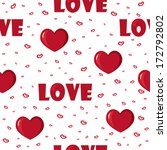 cute background with love and... | Shutterstock .eps vector #172792802