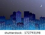 night city landscape. | Shutterstock . vector #172793198