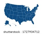usa modern map with federal... | Shutterstock .eps vector #1727934712