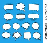 a set of comic bubbles and... | Shutterstock .eps vector #1727934715