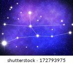 virgo zodiac sign bright stars... | Shutterstock . vector #172793975