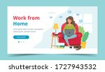 home office concept  woman...   Shutterstock .eps vector #1727943532