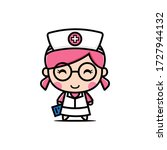nurse character design... | Shutterstock .eps vector #1727944132