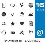 vector black communication... | Shutterstock .eps vector #172794632