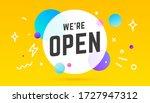 open. banner  speech bubble ... | Shutterstock .eps vector #1727947312