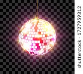 disco ball with light rays... | Shutterstock .eps vector #1727959312