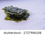 Seaweed Chips  On White...