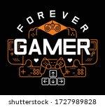 forever gamer. joystick. play... | Shutterstock .eps vector #1727989828