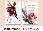 set of card with flower  leaves.... | Shutterstock .eps vector #1727992822