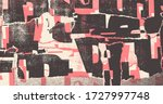 collage of torn street posters. ... | Shutterstock .eps vector #1727997748