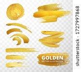 vector golden paint strokes ... | Shutterstock .eps vector #1727997868