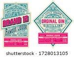 set of 2 vintage labels. vector ... | Shutterstock .eps vector #1728013105