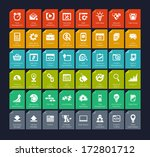 seo and development icon set | Shutterstock .eps vector #172801712