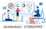 businesspeople online... | Shutterstock . vector #1728019345