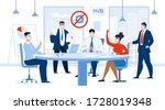 corporate meeting briefing... | Shutterstock . vector #1728019348