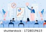 business seminar strategy idea. ... | Shutterstock . vector #1728019615
