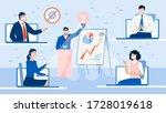 online business seminar... | Shutterstock . vector #1728019618