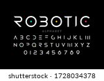 minimal style font  alphabet... | Shutterstock .eps vector #1728034378