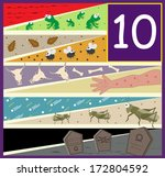 sangre,hierve,primera,moscas,ranas,granizo,jeroglíficos,piojos,langosta,de,plagas,cráneo,historia,símbolos,diez