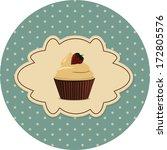 vintage cake | Shutterstock .eps vector #172805576