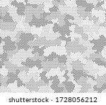 army camouflage hexagon... | Shutterstock .eps vector #1728056212