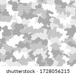 army camouflage hexagon... | Shutterstock .eps vector #1728056215
