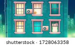 building facade with brick wall ... | Shutterstock .eps vector #1728063358