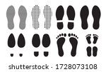 footprints human silhouette ... | Shutterstock .eps vector #1728073108