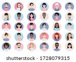 big bundle of different people... | Shutterstock .eps vector #1728079315