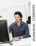 handsome young businessman... | Shutterstock . vector #172809092