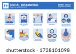 social distancing during... | Shutterstock .eps vector #1728101098