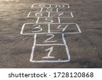 Hopscotch Game On The Pavement  ...