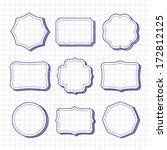 vector set of hand drawn frames | Shutterstock .eps vector #172812125
