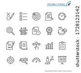assessment line icons. editable ...   Shutterstock .eps vector #1728123142