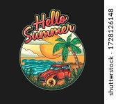 vector illustration of vacation ... | Shutterstock .eps vector #1728126148