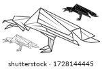 vector monochrome image of...   Shutterstock .eps vector #1728144445