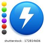 lightning bolt icon on round... | Shutterstock .eps vector #172814606