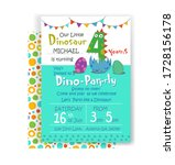 holiday birthday invitation to... | Shutterstock .eps vector #1728156178