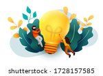 3d business people with big... | Shutterstock .eps vector #1728157585