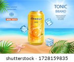 soft drink lemon flavor... | Shutterstock .eps vector #1728159835