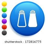 salt   pepper icon on round... | Shutterstock .eps vector #172816775