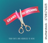 grand opening or re opening... | Shutterstock .eps vector #1728171025