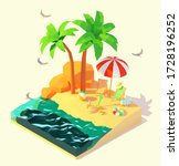 Vector Isometric Summer Beach...