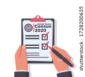 census 2020. the process of... | Shutterstock .eps vector #1728200635